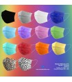 Masque médical - 3 plis - Colors